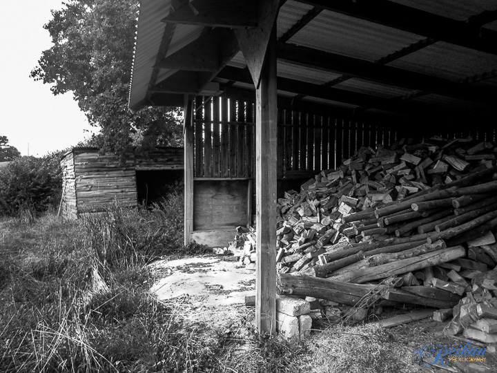 And a woodshed.  Someone had a woodburner near I guess!